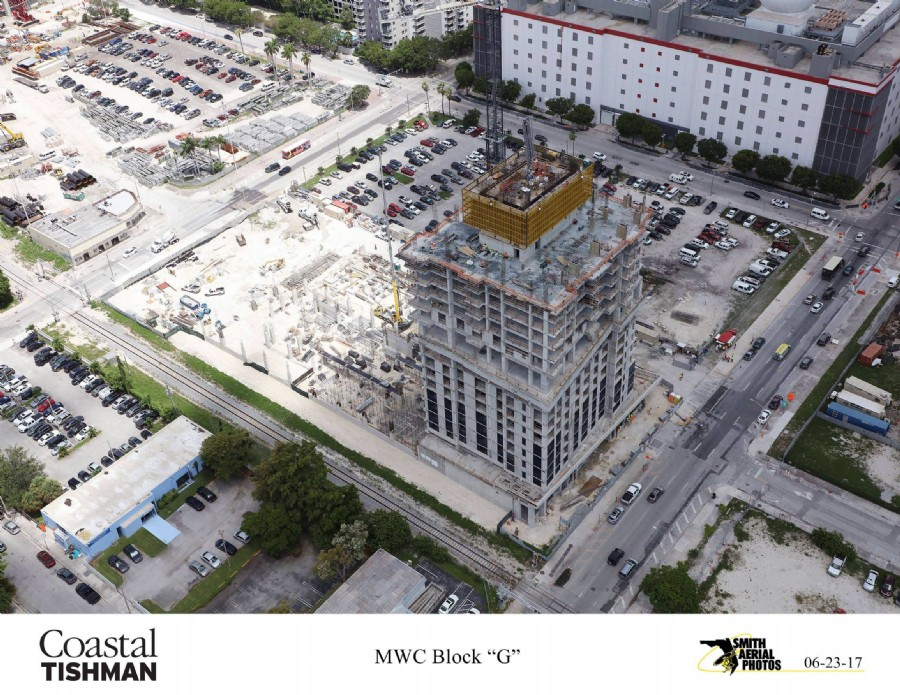 Retail Level 3 Pour At Miami Worldcenter, Paramount At 182′